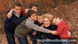 A single Mom of five boys