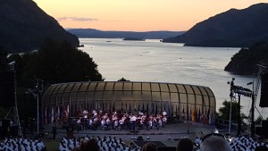 Trophy Point, West Point overlooking the Hudson River West Point Military band July 4th