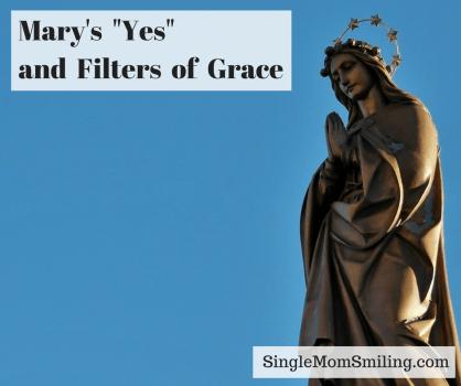 Statue of Virgin Mary in Prayer