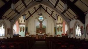 Inside a quiet Catholic Church
