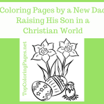 Coloring Pages by A New Dad Raising His Son in a Christian World