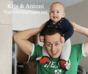 TopColoringPages.net - Founder & Son, Kris & Antoni