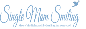 SingleMomSmiling Dove and Blue Logo
