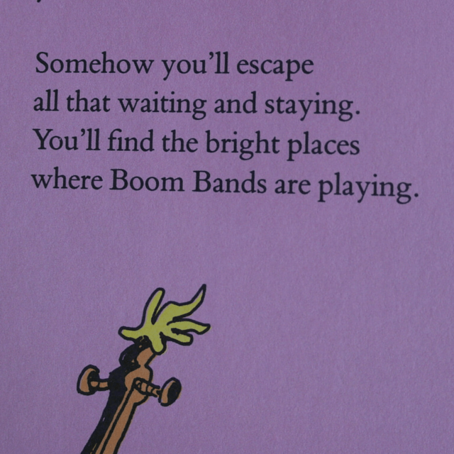 Dr Seuss find the bright places where boom bands are playing