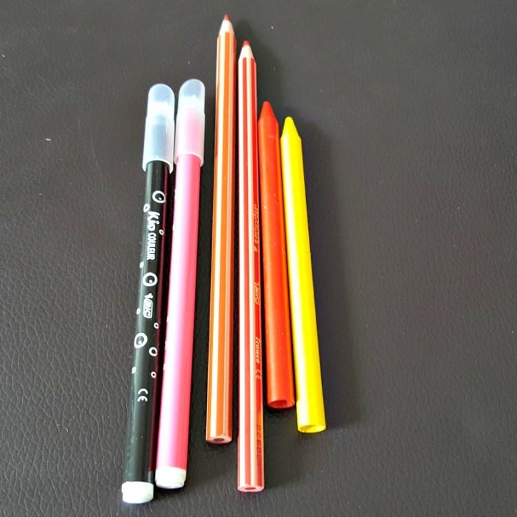 BIC pens pencils crayons