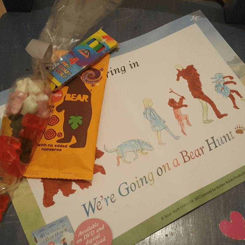 bear hunt party bag