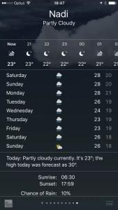 fiji forecast