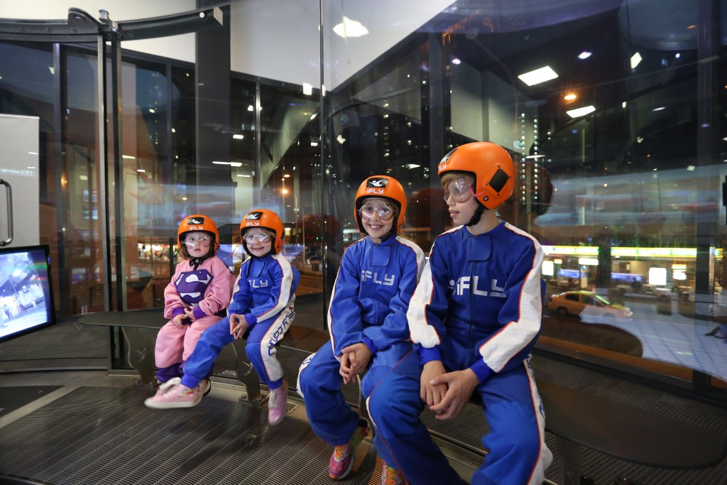 single mum, schools holidays, iFly review, superhero