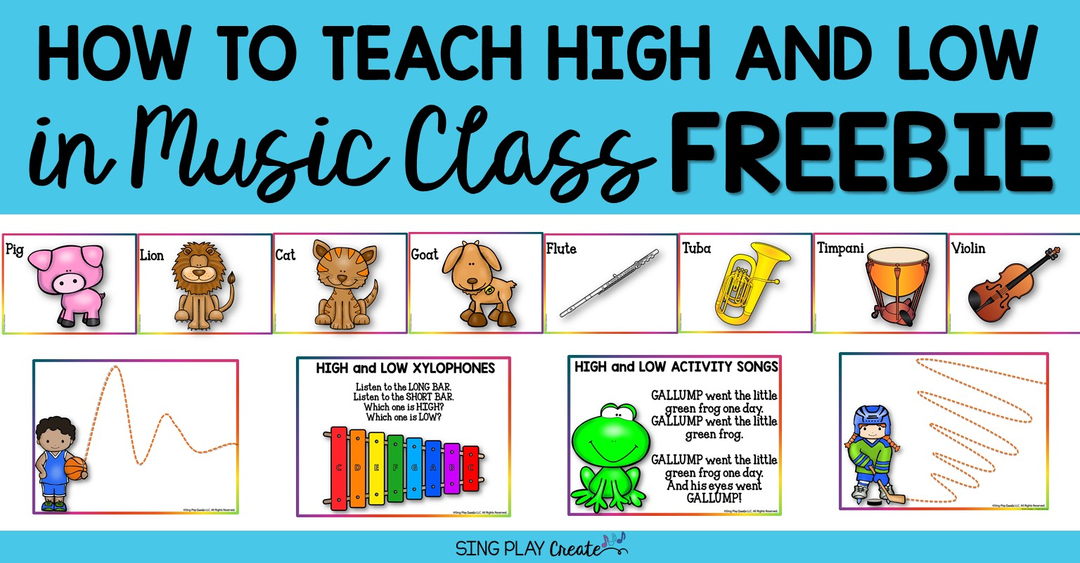 hight resolution of How to Teach High and Low in Music Class