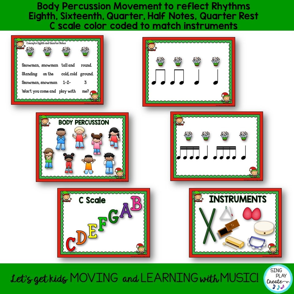 medium resolution of Holiday Music Lesson