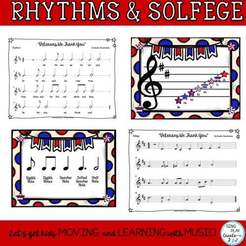 "small resolution of Patriotic Veterans Day Round and Music Lesson ""Veterans We Thank You"""