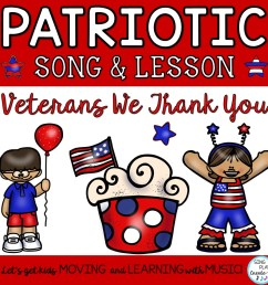 "Patriotic Veterans Day Round and Music Lesson ""Veterans We Thank You"" [ 960 x 960 Pixel ]"