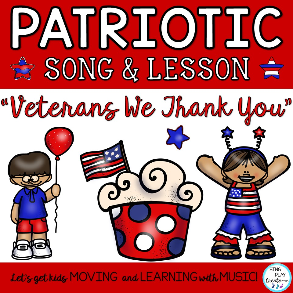 "medium resolution of Patriotic Veterans Day Round and Music Lesson ""Veterans We Thank You"""