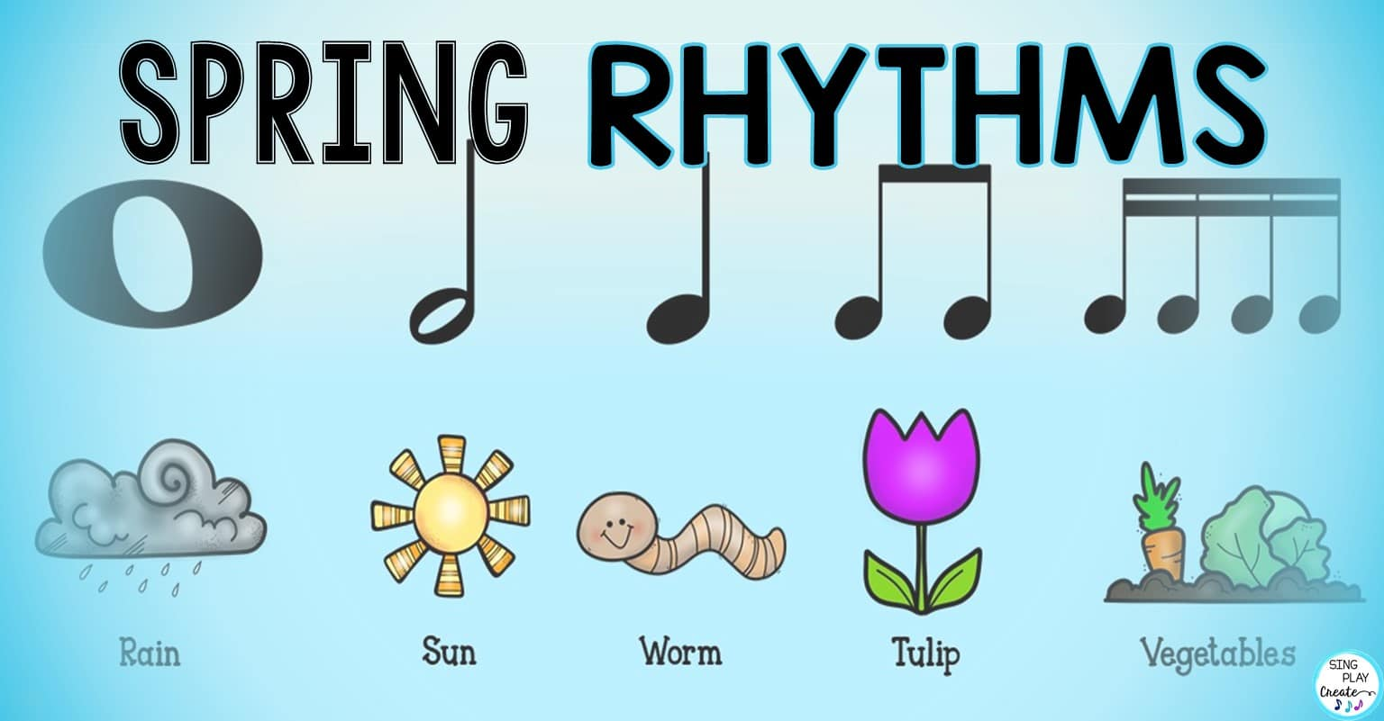 hight resolution of Music Activities with Spring Rhythms