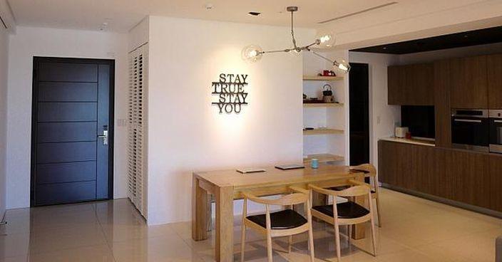 深圳夫婦鍾情簡單家居 白牆配木色家具夠清新 - 星島虎報海外地產