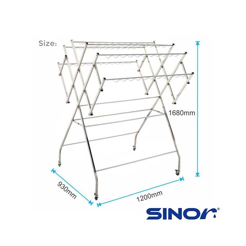 sinor stainless steel clothes drying rack bf 6250 304