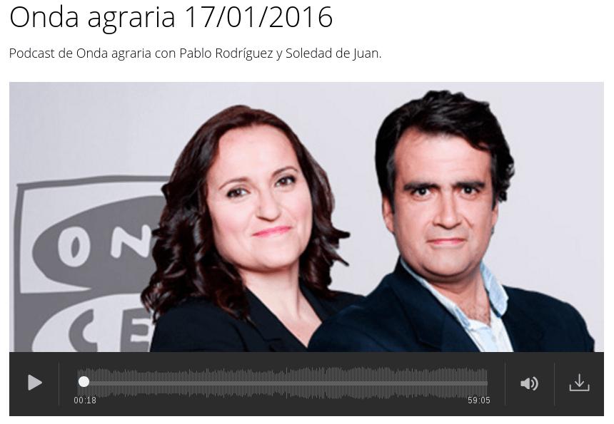 Entrevista en Onda Agraria sobre cubiertas vegetales
