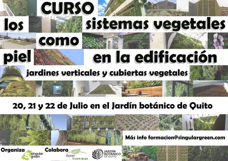 Curso de jardines verticales y cubiertas vegetales en Ecuador