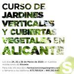 Curso presencial jardines verticales y cubiertas vegetales
