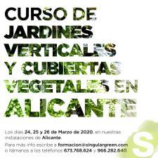 Curso presencial de jardines verticales y cubiertas vegetales en Alicante