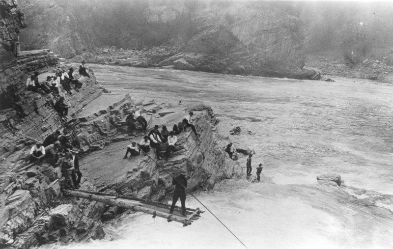 Fishing at Kettle Falls