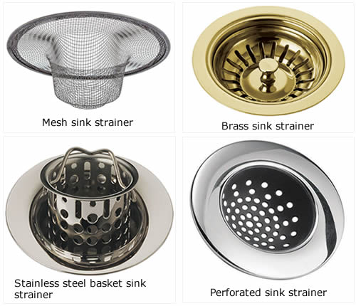 Sink Strainer Allows Water To Pass And Blocks Residue