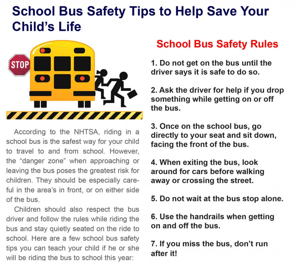 Back To School Bus Safety Tips For Your Child