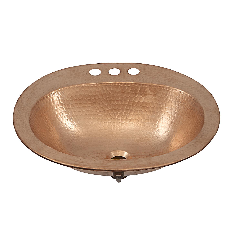 Kelvin Copper Dropin Bathroom Sink by Sinkology