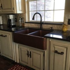 Copper Sink Kitchen Aid Coffee Makers Premium Sinks For The And Bathroom Sinkology Double Bowl Apron Front In A