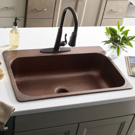 copper kitchen sinks cutting table by sinkology farmhouse drop in undermount angelico