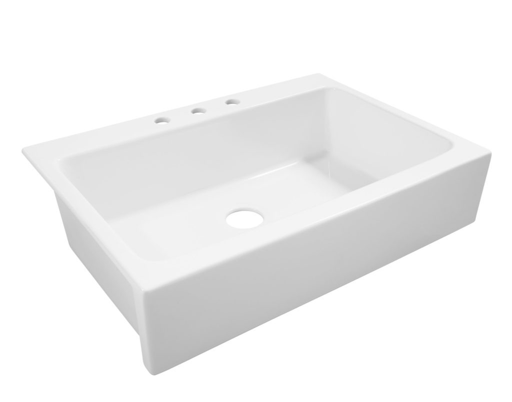 drop in farmhouse kitchen sinks pantry organizers josephine quickfit fireclay sink