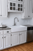 new renovated kitchen with fireclay sink