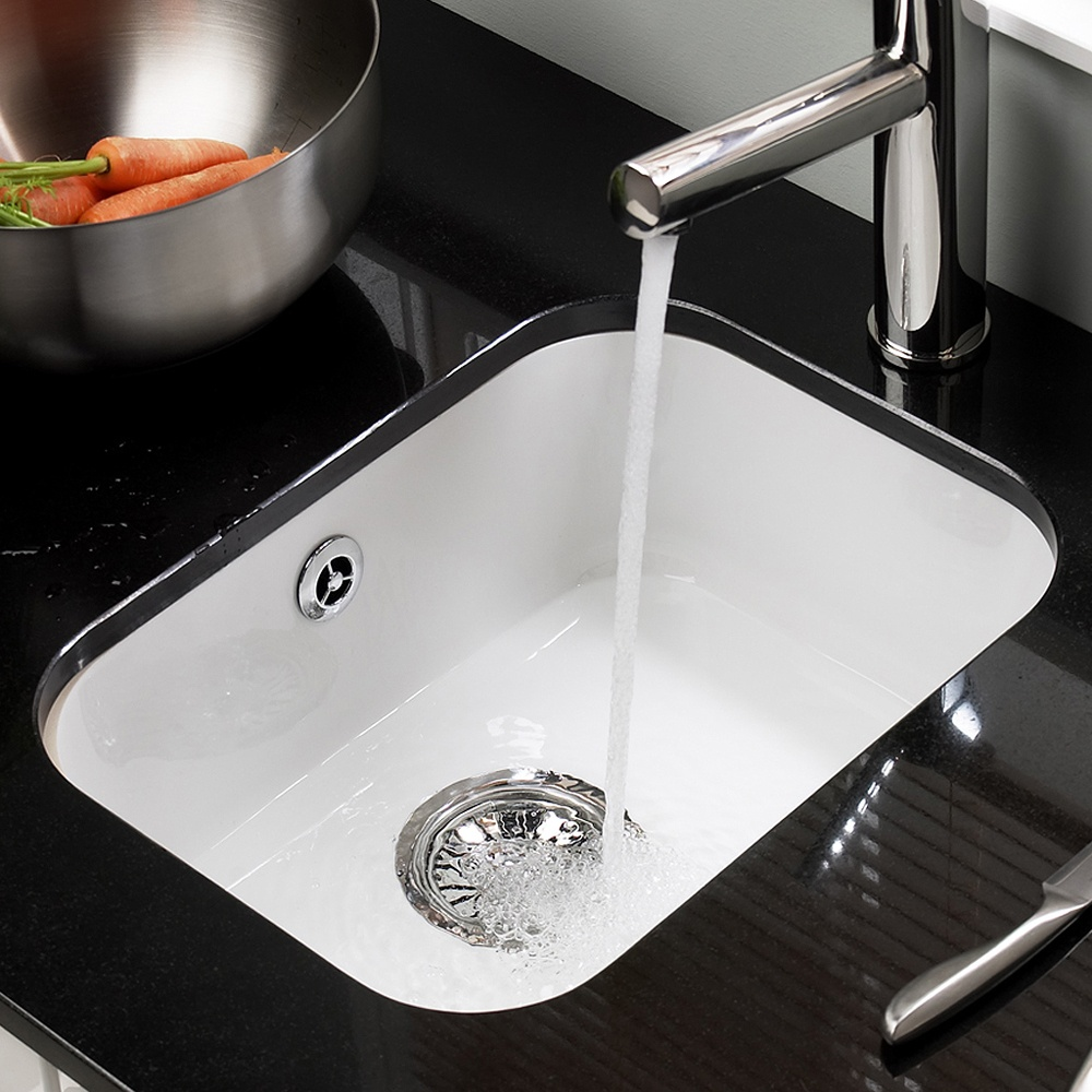 small white kitchen sinks modern islands astracast lincoln 3040 undermount ceramic sink taps com