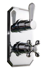 Aquabro Traditional Twin Concealed Shower Valve - Sinks ...