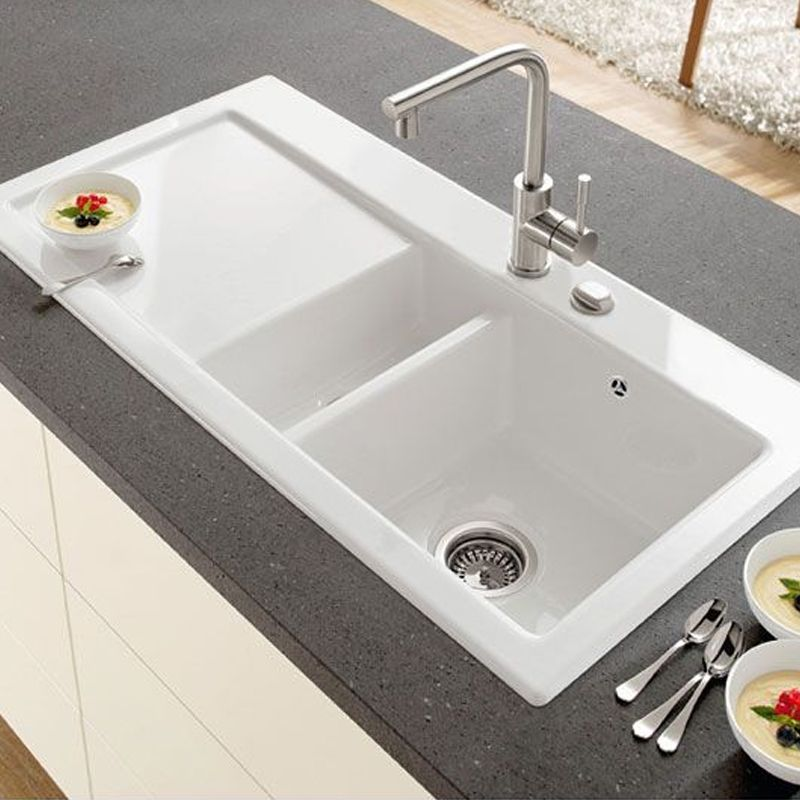 ceramic kitchen sink sears villeroy boch subway 60 line sinks taps com 1 5 bowl