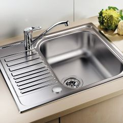 Blanco Kitchen Sink Peerless Faucet Parts Tipo 45 S Mini Inset Sinks Taps Com Single Bowl With Drainer Bl450897