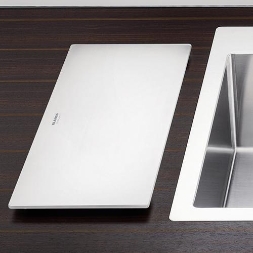 Blanco Steelart White Glass Chopping Board Sinks Taps Com