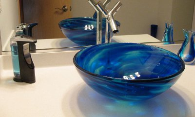 kitchen faucet wall mount cabinets lexington ky installation – blue water vessel | sinks gallery