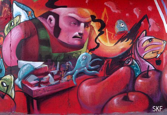 Mural en la punta de liquerique de gij n 1 parte sinlavenia - Puerto de gijon empleo ...