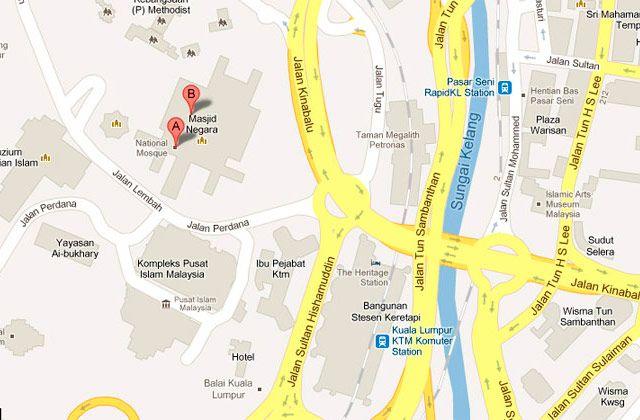 Mapa ubicacion Mezquita Nacional, KL