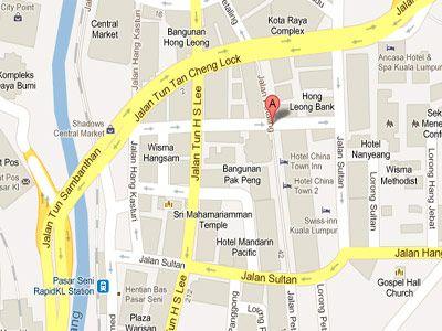 Mapa barrio chino, KL Qué ver y qué hacer en Kuala Lumpur Malasia