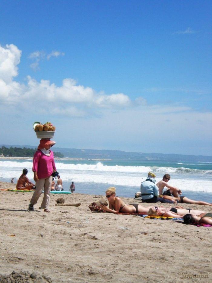 Playa de Kuta, Bali, Indonesia, Sinmapa.net