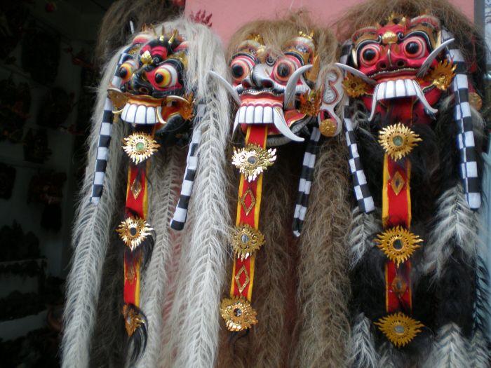 Mascaras en Bali, Indonesia