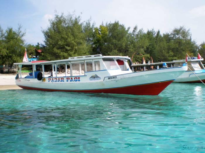 Barco en Islas Gili - Indonesia