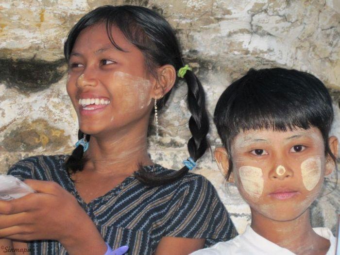 Niños de Birmania Sinmapa