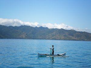 Pescador en las islas Gili Sinmapa