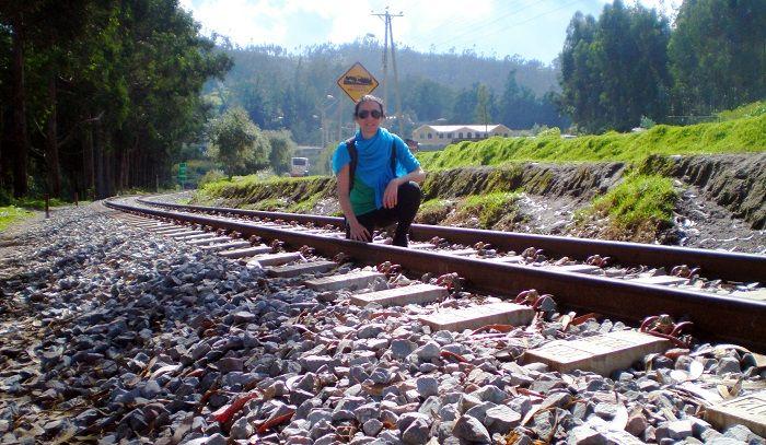 Yo de camino a la cascada Peguche en Otavalo