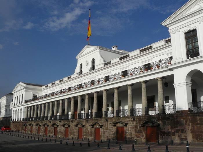 Palacio Carondelet en Quito, Ecuador