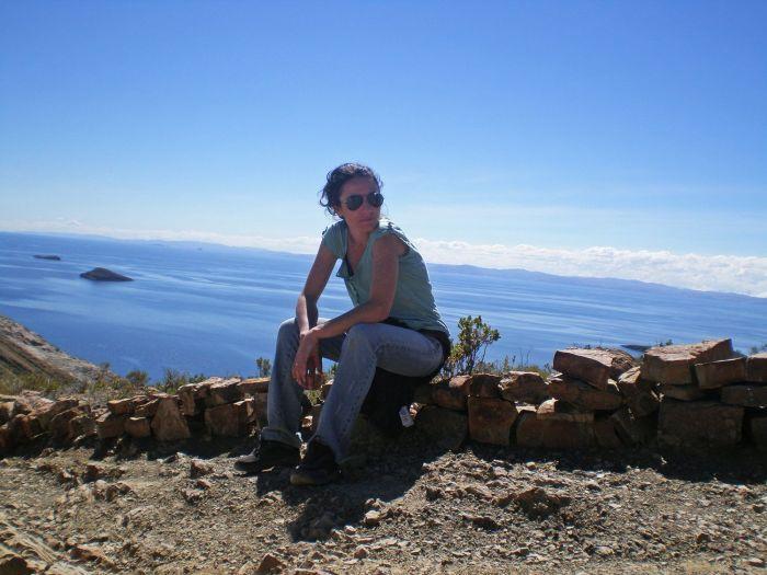 Agotada a mitad de camino - Cómo ir a la Isla del Sol - Qué ver en Isla del Sol - Bolivia