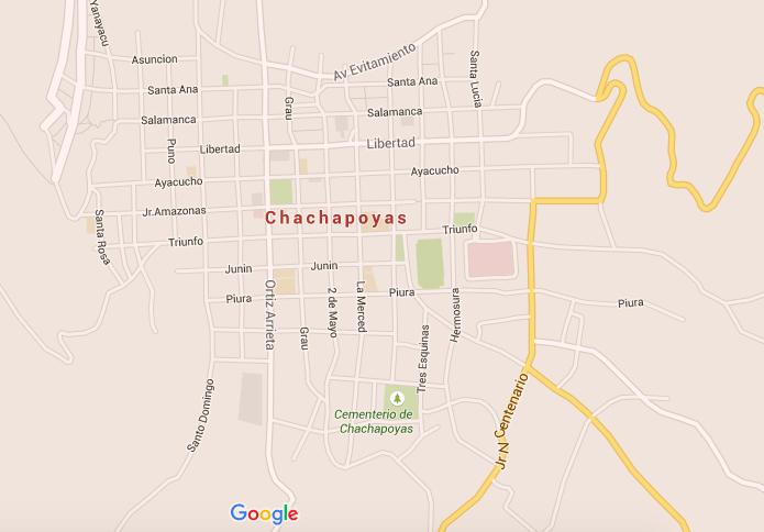 mapa - qué ver y qué hacer en Chachapoyas - Perú